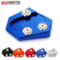 Fashion Motorcycle accessories Blue motorbike Side Kickstand Stand Extension Plate For Yamaha MT-09 2014~2015 FZ-07 2014~2015