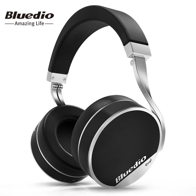 Bluedio Vinyle, Plus La Lumière Extravagance Sans Fil Bluetooth Casque comptoir Spécial De Luxe Pliable Casques avec Microphone