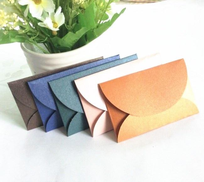 20 Pcs/set Vintage Love Small Colored Pearl Blank Mini Paper Envelopes Invitation Envelopes Greeting Card Window Envelopes