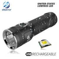 Leistungsstarke Luminus LED Taschenlampe max 1200 lumen strahl abstand 500 meter Eingebaute große kapazität lithium-batterie outdoor taschenlampe