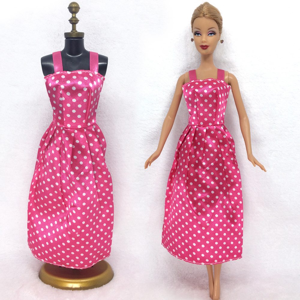 NK One Pce Doll Dress Beautiful Maxiskit Simple Style Handmade Party Clothe Casual Dress For Barbie Doll Best Girls'Gift 001A