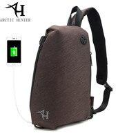 ARCTIC HUNTER Brand Chest Bag Crossbody Bags For Men Messenger Bag USB Charge Waterproof Nylon Casual