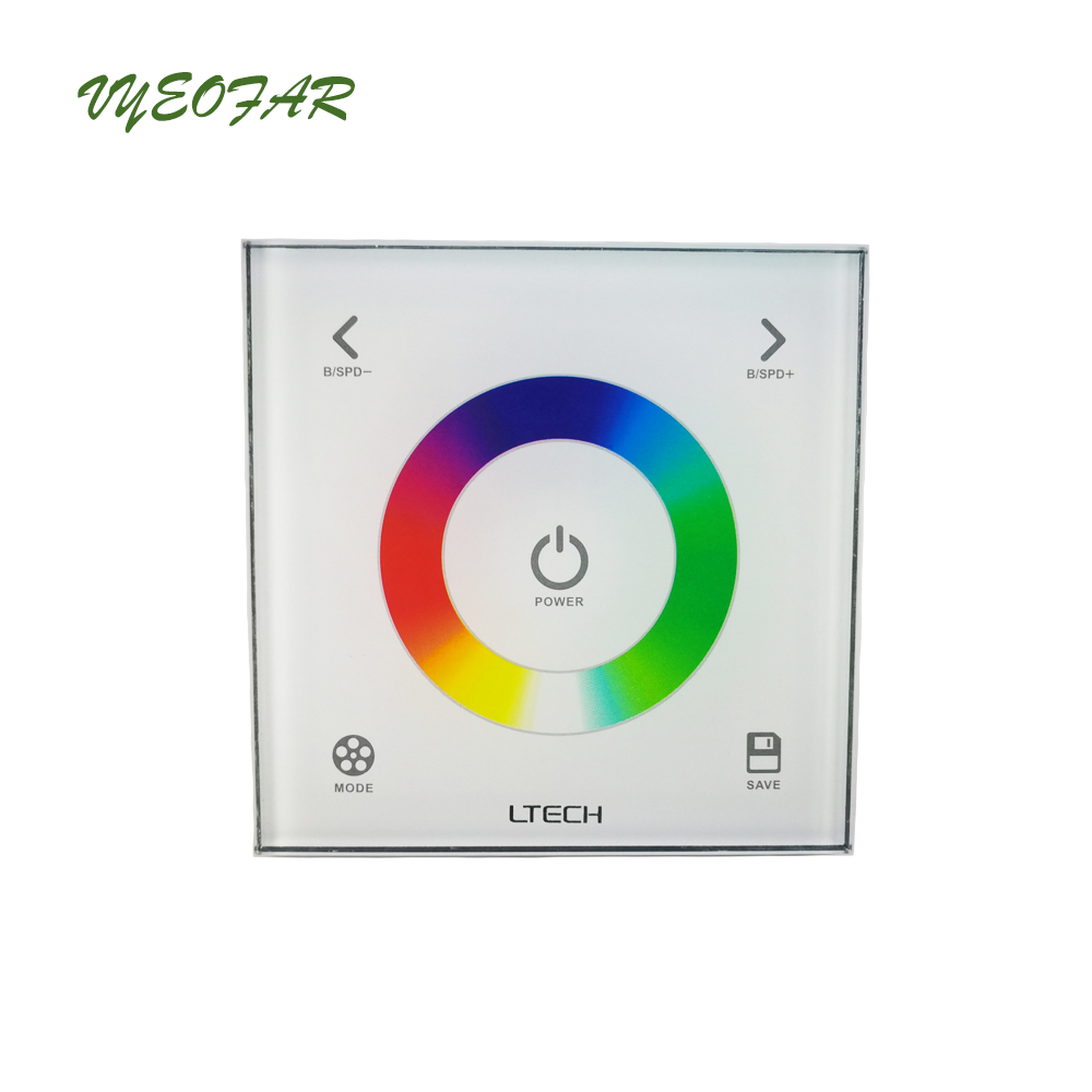 Ltech DX3 Touch Panel Wall Mount RGB LED controle dmx Controller 2.4G RF Wireless Sync Control DMX512 Output RGB Controller t1000s sd card led controller pixel controller for ws2812 b2812b dmx512 ws2811 ws2801 lpd8806 apa102 rgb controller