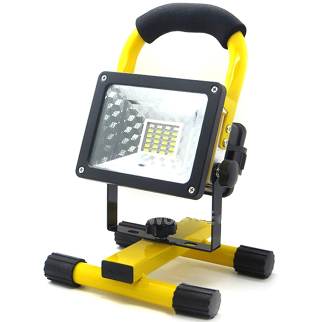 10pcs Lot 30w Led Flood Light Work Lamp Outdoor Waterproof Ip65 18650 Battery Rechargeable Portable Camping Floodlight