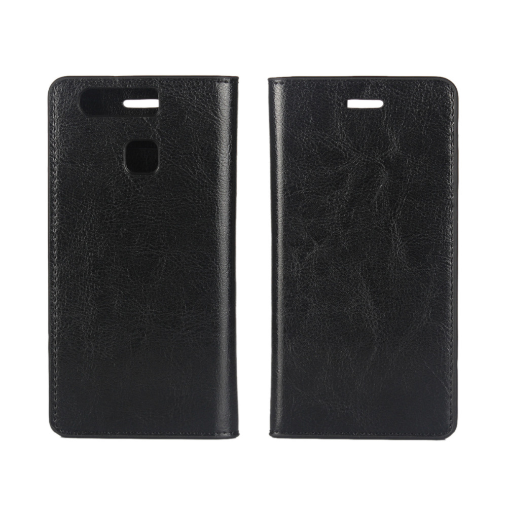 Image 2 - P9 Coque Huawei P9 Genuine Real Flip Leather Case for Huawei P9 Protective Cover Fundas Black Capa Cases Etui Accessory Bags-in Flip Cases from Cellphones & Telecommunications on AliExpress