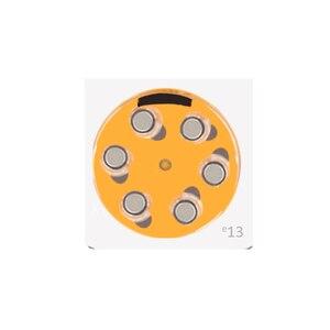 Image 2 - אבץ אוויר כפתור תא 13 1.4V כתום Tab סיוע הסוללה כוח e13 מחליף 13A 13 הרשות A13 AC13 DA13 P13 PR13 PR48 PZ13 ZA13