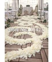 5000 pcs Pernikahan acara festival Party dekorasi Gading/warna murni putih palsu Buatan Silk Rose melemparkan Kelopak bunga
