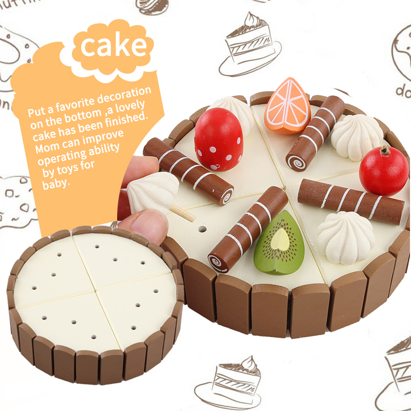 Wooden-Simulation-Cake-and-See-Every-Toy-Size-11-cm-3-cm-To-The-Childs-Birthday-Present-Montessori-Interests-Intellectual-Toy-2