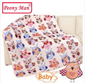 New Hot Baby Blanket 80*100cm Kids Cartoon Cobertor Bebe Aircon Child Sheet Thick Warm Winter Blankets Super Soft Flannel Fleece