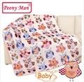 New Hot Baby Blanket 80*100cm Kids Cartoon Cobertor Bebe Aircon Child Sheet Thick Warm Winter Blankets Super Soft Flannel Fleece