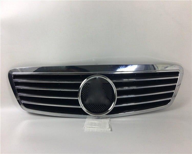 EOsuns Grille de calandre avant pour mercedes-benz classe S W220 S280 S320 S350 S500 S600 1998-2005
