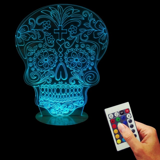 Multi-coloured 3D Punisher Skull