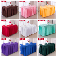 Table Cloth Art Hotel Conference Room Table Skirts Polyester Wedding Banquet Activities Table Cover Tablecloth Home Textile