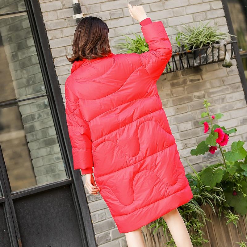 Para 2018 Vestes Kj479 Long Femmes Femme Veste Nouveau Manteau red Mujer Lâche Ayunsue Canard Blanc Casacas Black Duvet Parkas De white Hiver Occasionnel CxQdshrBt
