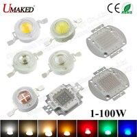 High Power LED SMD COB Lamp Chip 1 W 3 W 5 W 10 W 20 W 30 W 50 W 100 W Warm Koel Wit Rood Groen Blauw 1 3 5 10 20 30 50 100 W