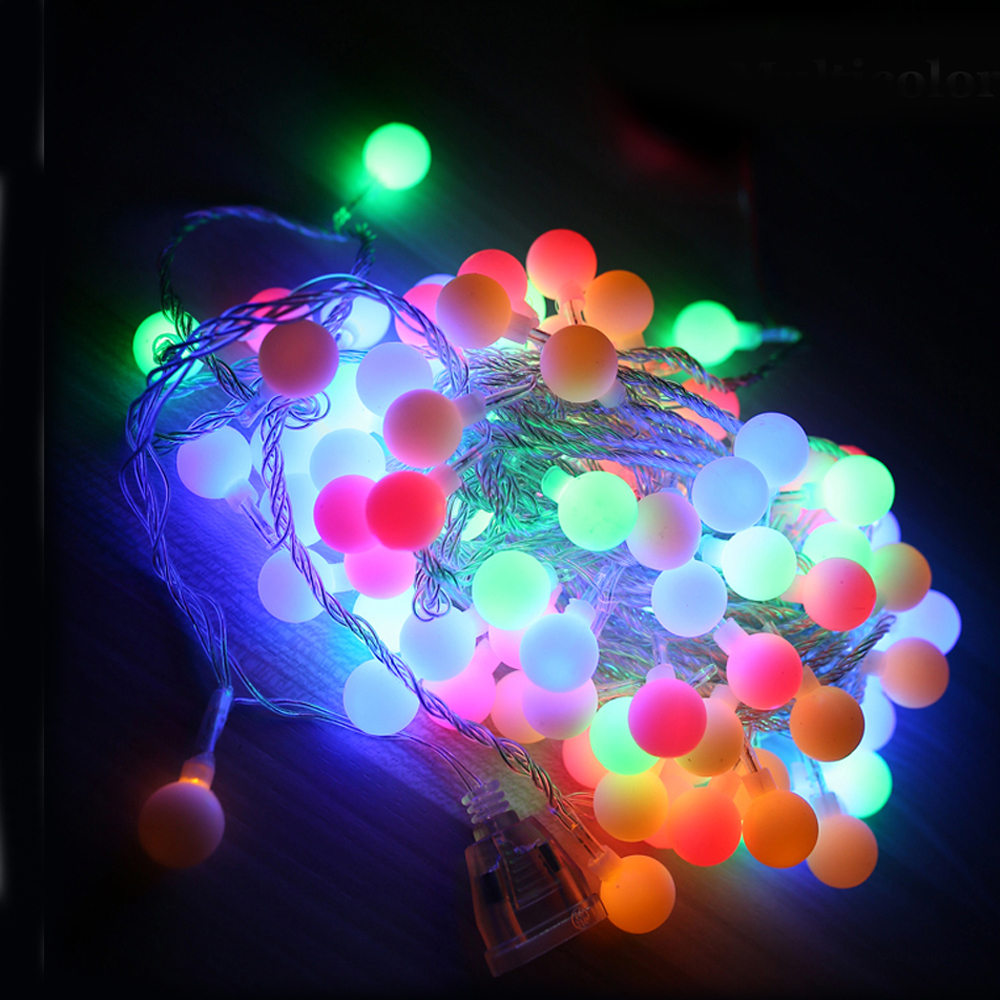 Tanbaby 10M led string lights with 80led ball AC220V holiday decoration lamp Festival Christmas lights