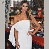 Ocstrade Summer Women Dress Elegant Party 2018 New Arrival White Strapless Celebrity Bodycon Dress