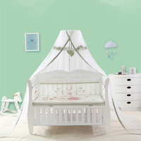 Palace Style Baby Cot Crib Mosquito Nets Height Adjustable Summer Newborn Kids Mosquito Netting Tents Canopy for Children Infant