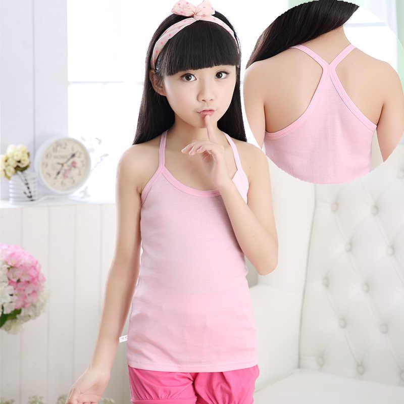 Летняя футболка для детей Y, 100% хлопковые топы без рукавов для мальчиков и девочек, топы, футболки, жилетка ярких цветов, топы для детей, От 1 до 14 лет