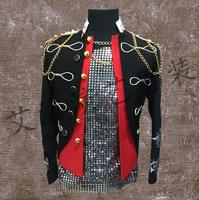 Korean GD Bigbang Men Singers Dancer Stage Show Royal Wind Coat Jacket DJ DS Clothing Dress Costumes ! XS 4XL free shipping