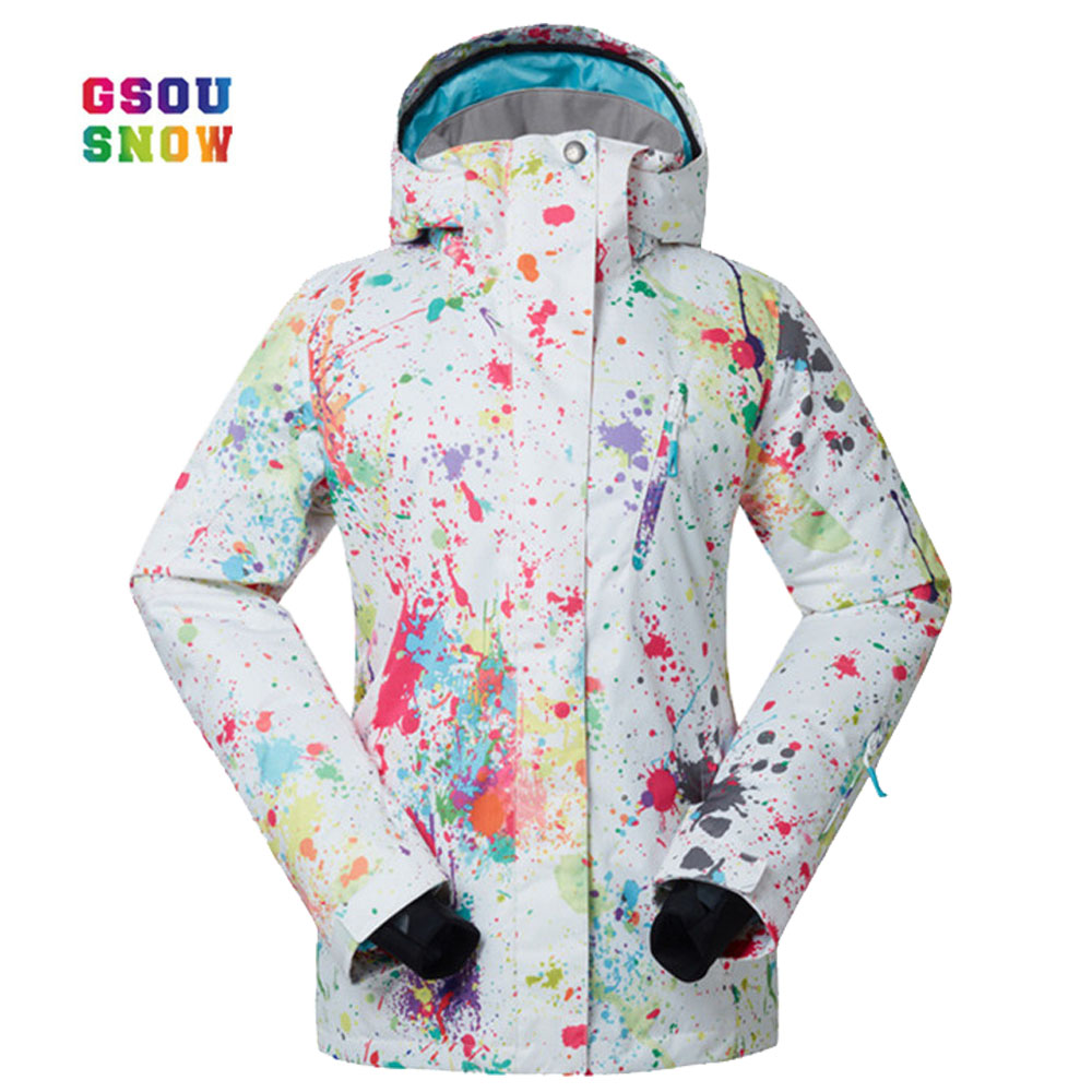 GSOU SNOW  New Ski Jacket Women Anti-pilling Snowboard Coats Waterproof Fashion Windproof Female Ski Jackets Breathable CottonGSOU SNOW  New Ski Jacket Women Anti-pilling Snowboard Coats Waterproof Fashion Windproof Female Ski Jackets Breathable Cotton