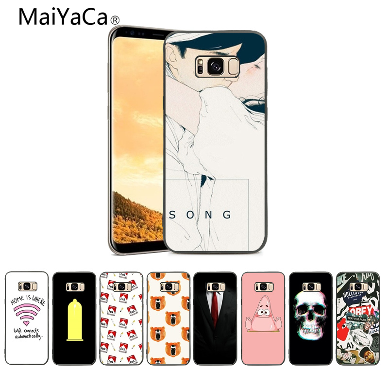 MaiYaCa Looks cute wallpaper Soft Rubber Black Phone Case For Samsung Galaxy s5 s6 s7 s8