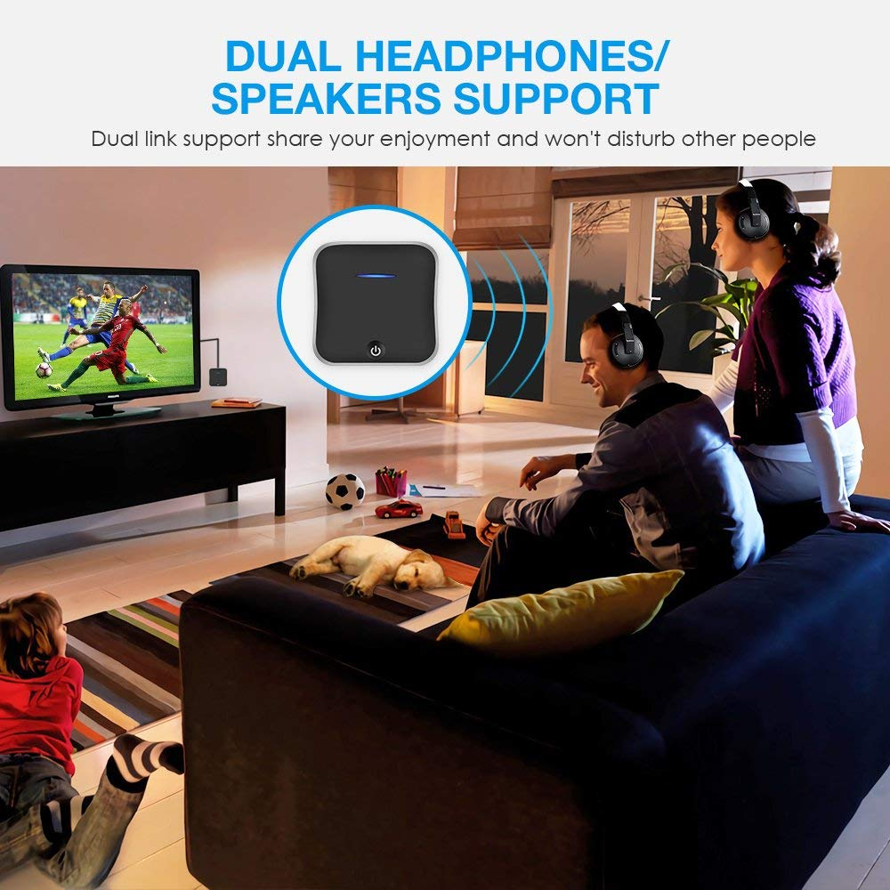 Portable  Bluetooth Receiver BT4.2 Car Audio One Drag 2Adapter Car Audio 3.5 AUX