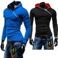 El nuevo diseño 2017 primavera hoodies de los hombres sólidos de manga larga streetwear hombres casul hombre outwear coat plus tamaño 3XL