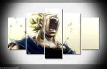 Vegeta dragon ball-z anime print poster canvas in 5 pieces 20x35cmx2,20x45cmx2,20x55cm