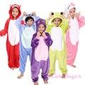 2016 Inverno Crianças Presentes do Dia Das Bruxas Engraçado Animal Pyjamas Hot Personagens de Desenhos Animados Trajes Quentes Flanela Onesies Animais Pijama