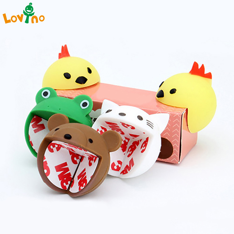 4pcs/lot Cute Cartoon Baby Safety Furniture Corner Guards Soft Child Baby Safety Silicone Table Desk Corner Protector Edge Cover