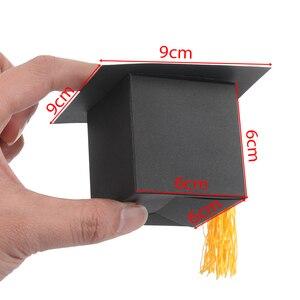 Image 4 - 10 Pcs Doctor Hoed Cap Bonbondoos Graduation Celebration Party Decoratie Snoep Gunst Dozen Gift Verpakking Papier Carrier
