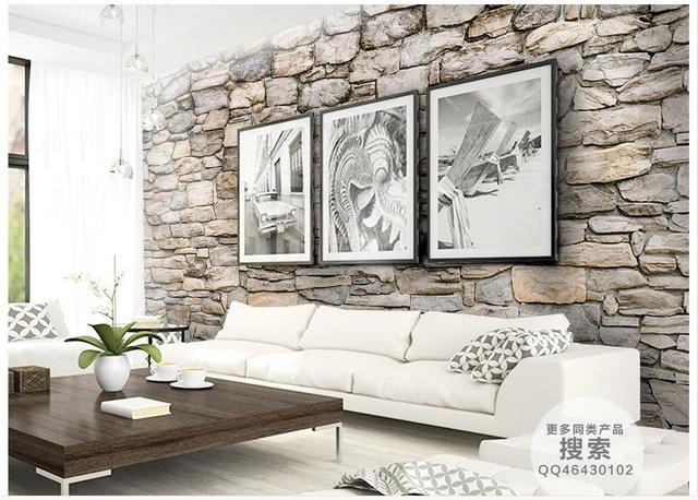 Kundenspezifische 3d Fototapete 3d Wandbilder Wallpaper Naturstein Kultur  Stein Wand Im Hintergrund Wand Dekor Wohnzimmer