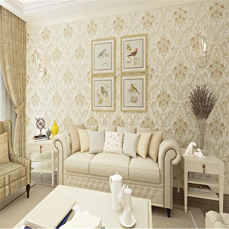 beibehang wall paper Pink engraved flower 3d wallpaper living room bedroom European style wallpaper wall papel de parede tapety beibehang wall paper papel de parede 3d korean garden flower pink romantic wedding room bedroom wallpaper shop for living