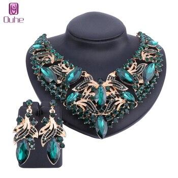 63fc6bd13e10 Moda Rhinestone Crystal Choker Collar para las mujeres declaración collares  pendiente Collar Boho joyería 5 colores