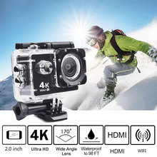 "Big sale Trainshow 2.0"" 30m Waterproof Action Camera 4K 1080P Video Camera WIFI Sport DV LCD Outdoor 12MP 60FPS Diving Optional Package"