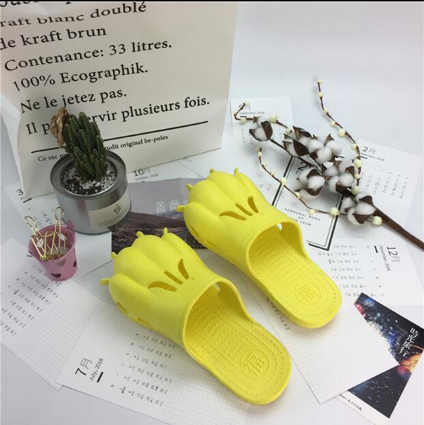 Пляжная обувь сандалии для прогулок летние Для мужчин Для женщин лапы тигра Пара Личность Медведь пижамы плоские туфли обувь отверстие пля...