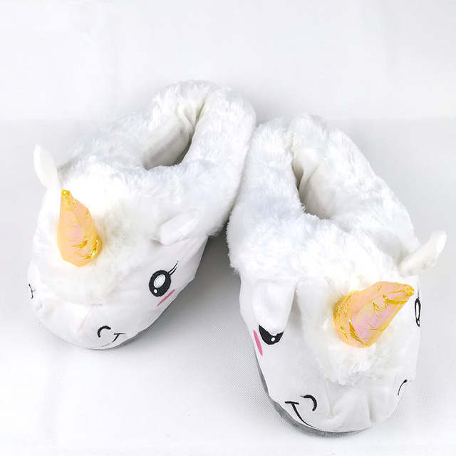 0e517094dce placeholder FAYUEKEY New Home Cartoon Unicorn Warm Cotton Plush Slippers  Soft Funny Animal Monster Slippers For Grown