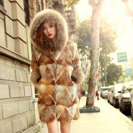 Aliexpress.com : Buy 2015 New Red Fox Fur Coat Whole skin Real Fox ...