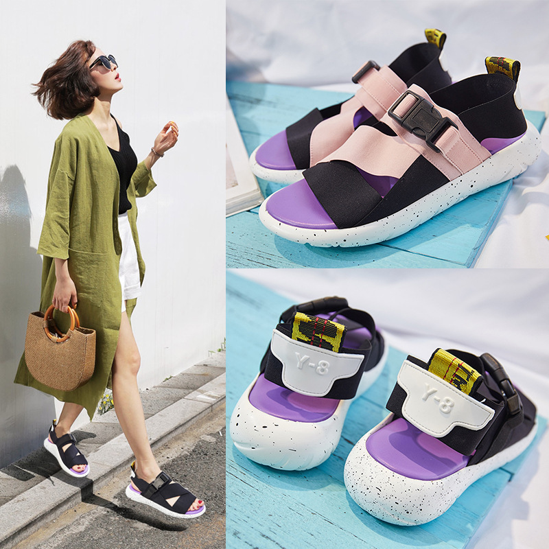 Color Sandals Woman 2019 Sponge Comfortable Leisure Non-slip Single Shoe Pregnant Woman ShoesColor Sandals Woman 2019 Sponge Comfortable Leisure Non-slip Single Shoe Pregnant Woman Shoes
