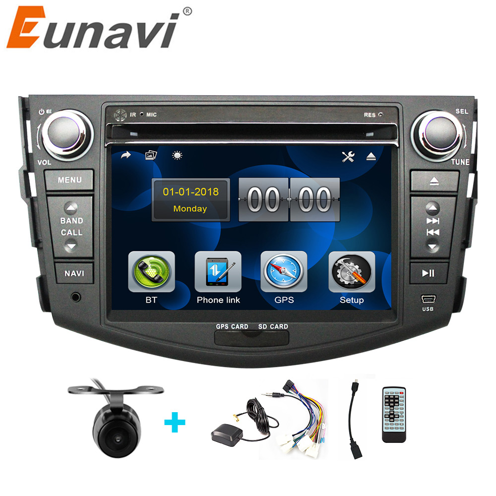 Discount Eunavi Car DVD Player 2Din Car Radio For Toyota RAV4 2006 2007 2008 2009 2010 Steering Wheel control Touch screen GPS Navigation 0