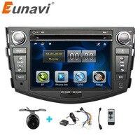 Eunavi Car DVD Player 2Din Car Radio For Toyota RAV4 2006 2007 2008 2009 2010 Steering Wheel control Touch screen GPS Navigation
