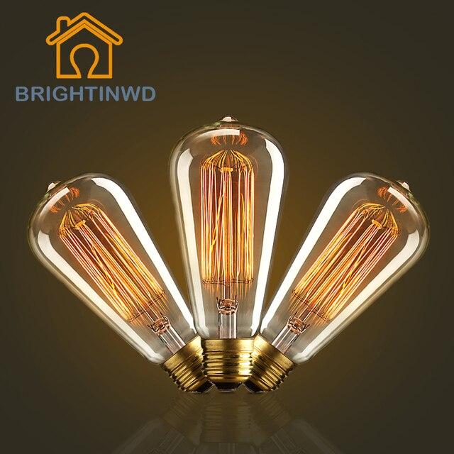 Us 1 85 30 Off Aliexpress E27 40w Edison Light Bulb Retro Lamp Vintage Incandescent Bulbs 220v Carbon Filament Lights Handmade Indoor