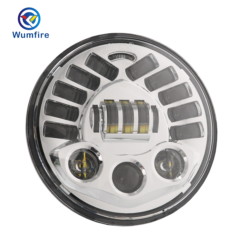 WUMFIRE 2018 new light 7inch H4 H13 Led high low beam Motorcycle Headlight adaptive Projector For Davison