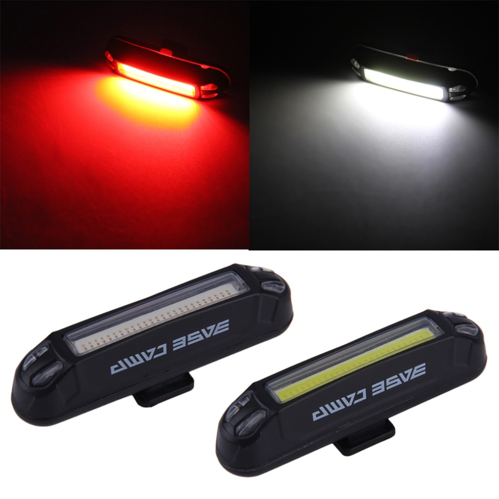 Topsale Basecamp Waterproof USB Rechargeable Bicycle Head font b Light b font High Brightness Red LED