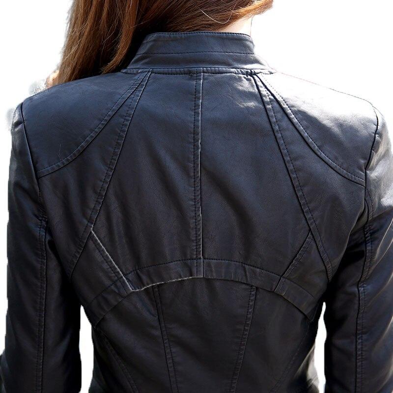 2018 Новая женская куртка для женщин модные кожаные мотоциклетные для женщин S тонкий Велосипедный Спорт Женское пальто с молнией