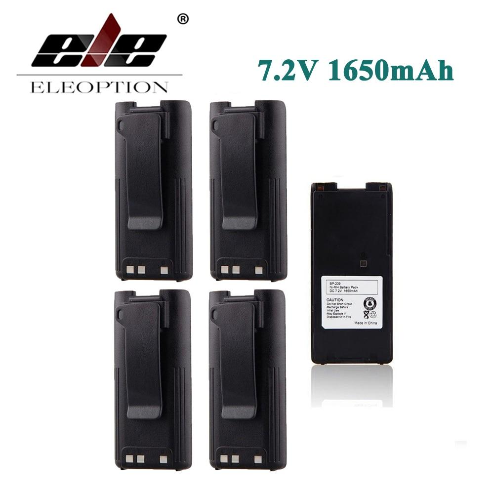 ELEOPTION 5PCS 1650mAh 7 2V Ni MH BP 209N BP 210N BP 22 Battery for ICOM