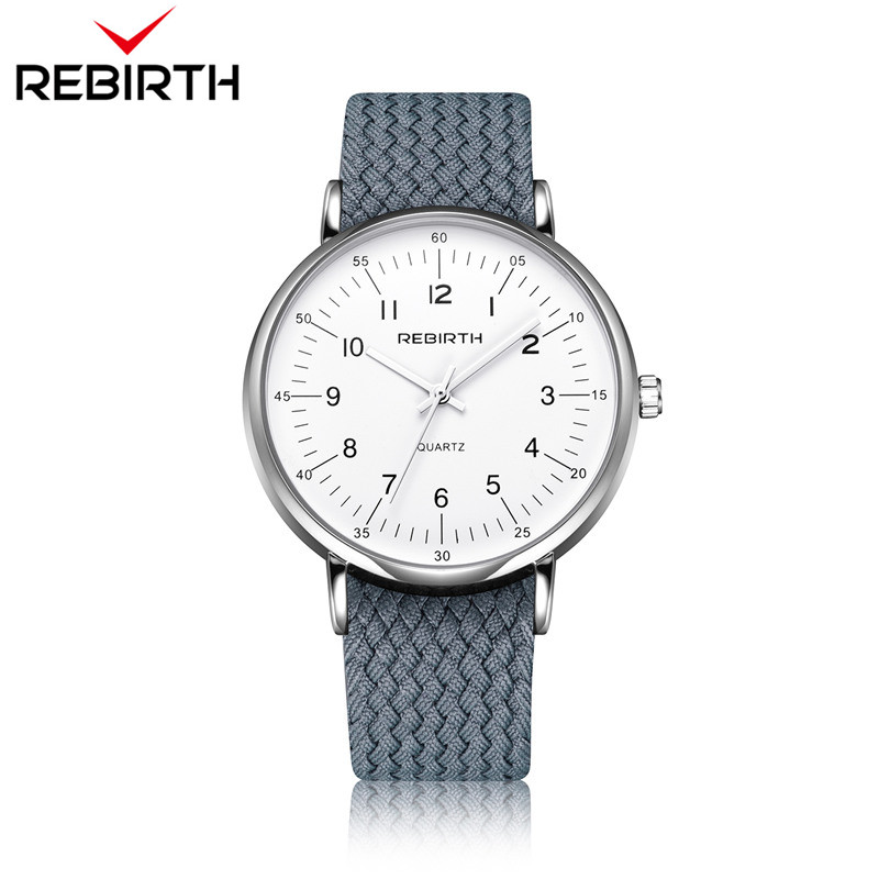 Fashion Rebirth Men Watches Casual Mens Top Brand Luxury Quartz Nylon Strap Clock Sport Male Clocks Man Wristwatches New