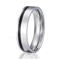 titanium wedding band men ring silver and black color fashion jewelry anillos alliance