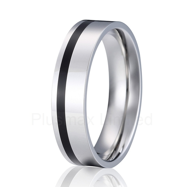Anium Wedding Band Men Ring Silver And Black Color Fashion Jewelry Anillos Alliance